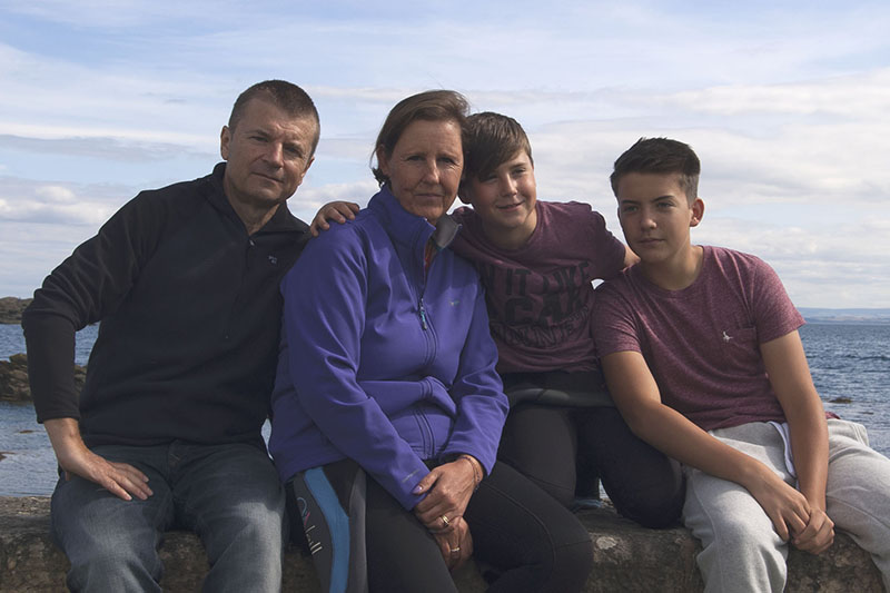 John and the boys in Scotland
